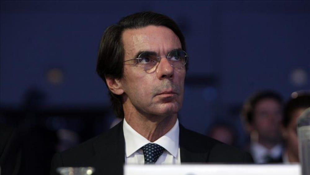El expresidente del Gobierno José María Aznar, durante un encuentro en Guatemala