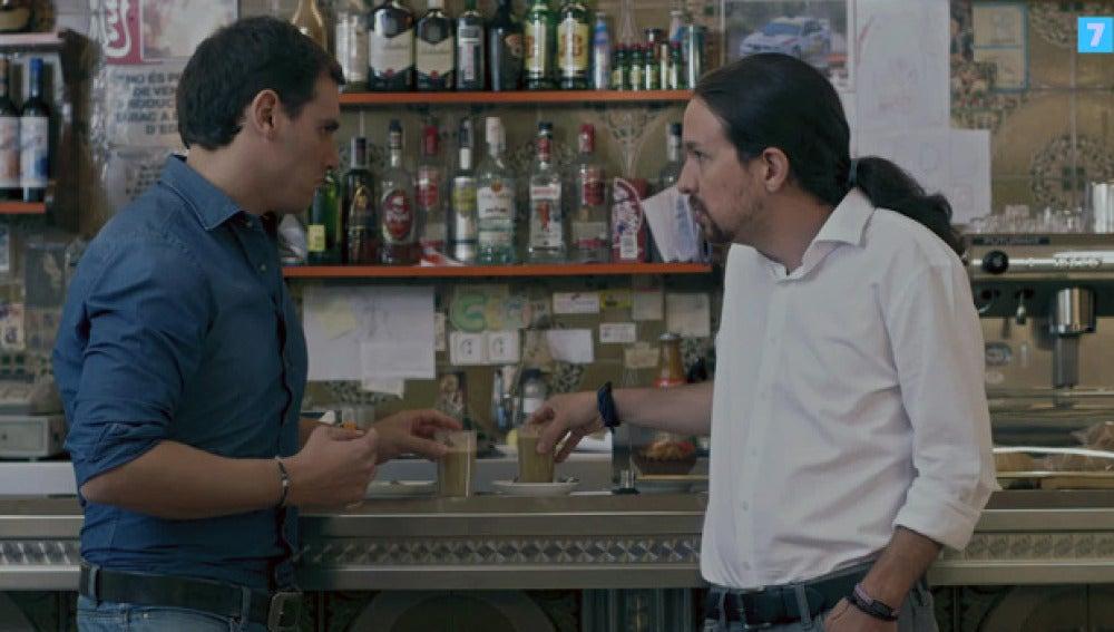 Pablo Iglesias y Albert Rivera, en Salvados