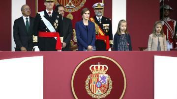Los Reyes, acompañados de sus hijas la princesa Leonor y la infanta Sofía