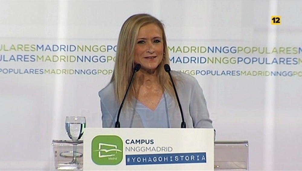 Cristina Cifuentes, presidenta de la Comunidad de Madrid, en laSexta Noche