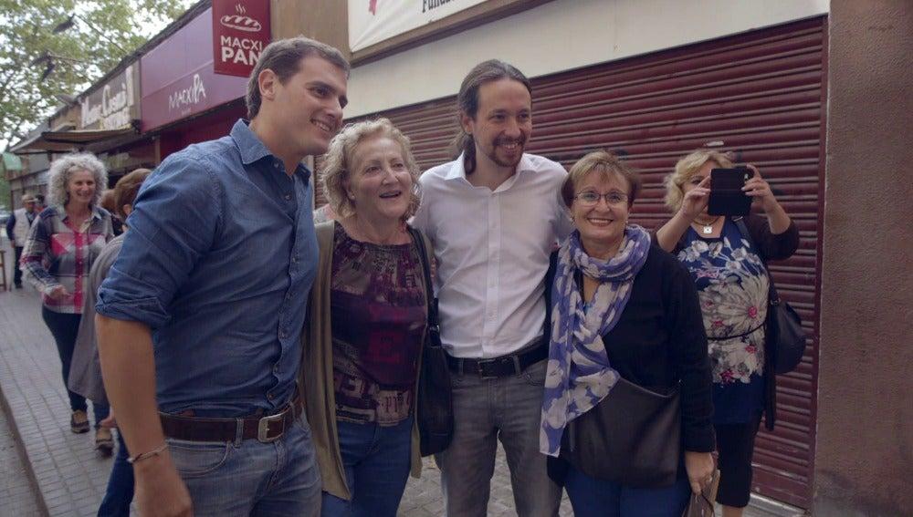 Albert Rivera y Pablo Iglesias reflejan cómo ha cambiado un cara a cara electoral en España