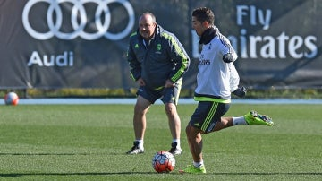 Rafa Benítez y Cristiano Ronaldo