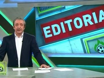 Josep Pedrerol editorial de Jugones