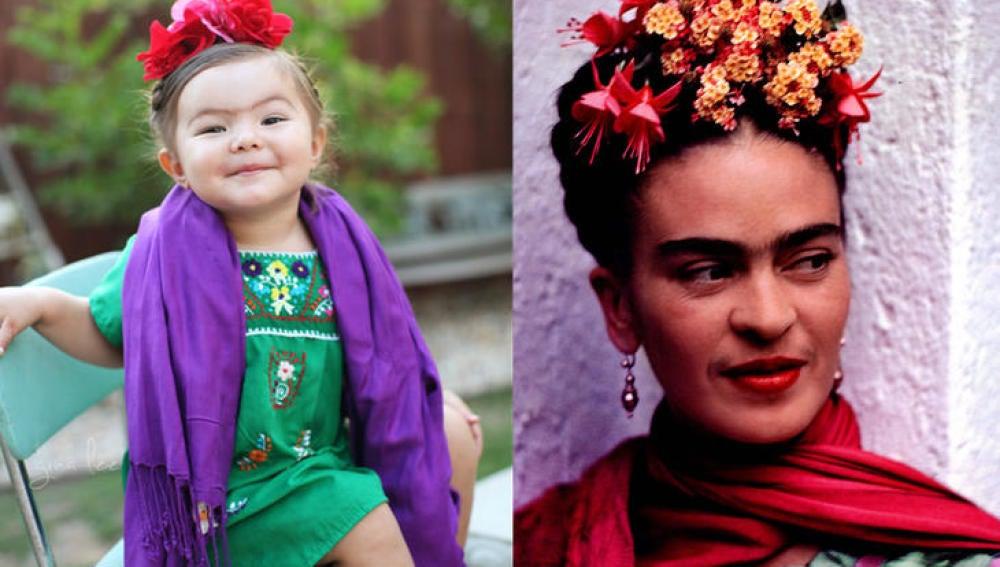 Willow se disfraza de Frida Kahlo