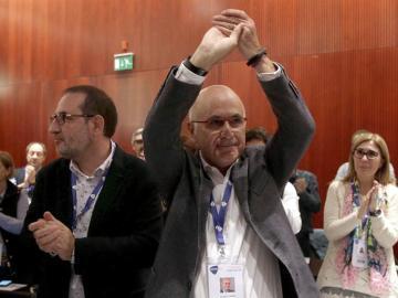 Duran Lleida, junto Ramón Espadale, cabeza de lista del partido en las pasadas elecciones catalanas