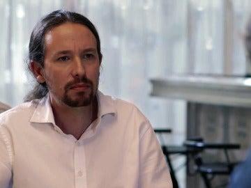 Pablo Iglesias , en el debate con Albert Rivera, en Salvados