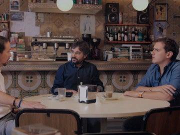 """Pablo Iglesias a Albert Rivera, en el cuestionario de Jordi Évole: """"Como esto siga así nos presentamos juntos a las elecciones"""""""