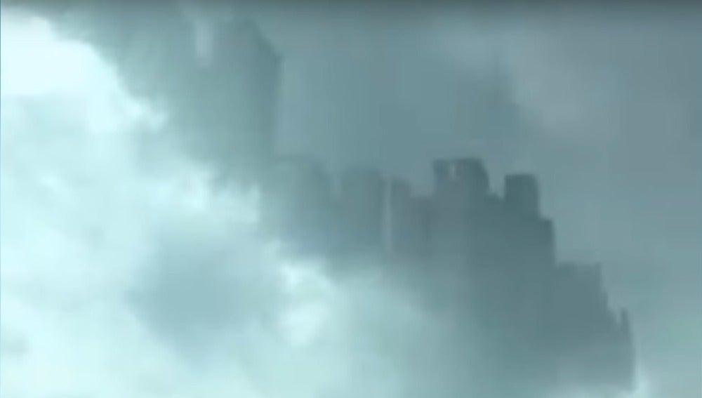 ¿Es una verdadera ciudad 'flotante' el fenómeno aparecido en el cielo de China?