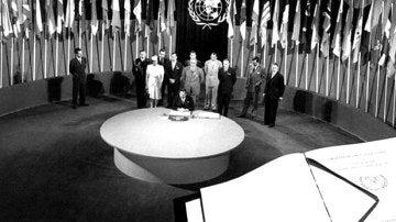 Firma de la carta de las naciones Unidas