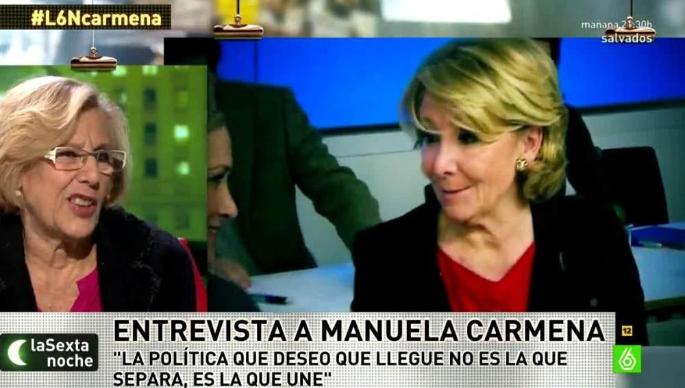 Carmena habla sobre Aguirre