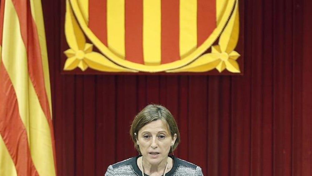 La nueva presidenta del Parlament, Carme Forcadell (Junts pel Sí)