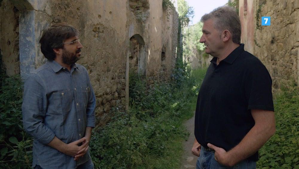 Toni Garcés con Jordi Évole, en Jánovas