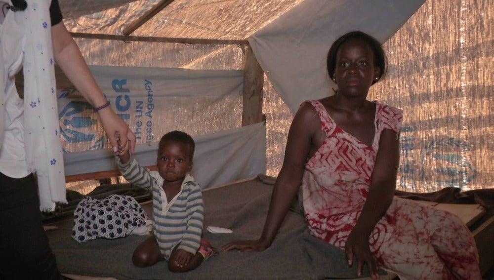 Campo de refugiados de ACNUR en Ampain, Ghana