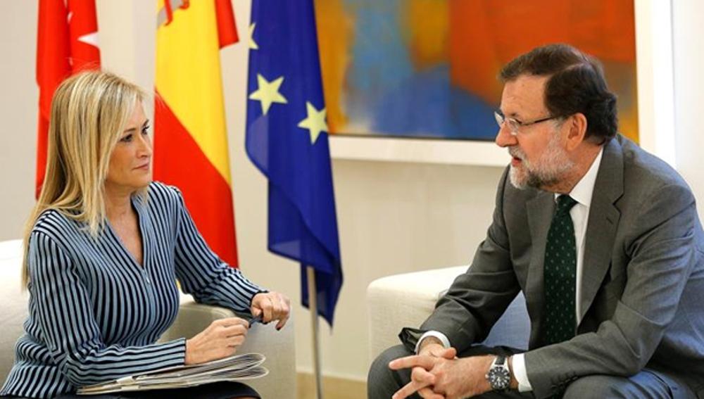 Cristina Cifuentes junto a Mariano Rajoy