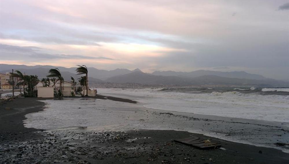 Una playa tras la gota fría