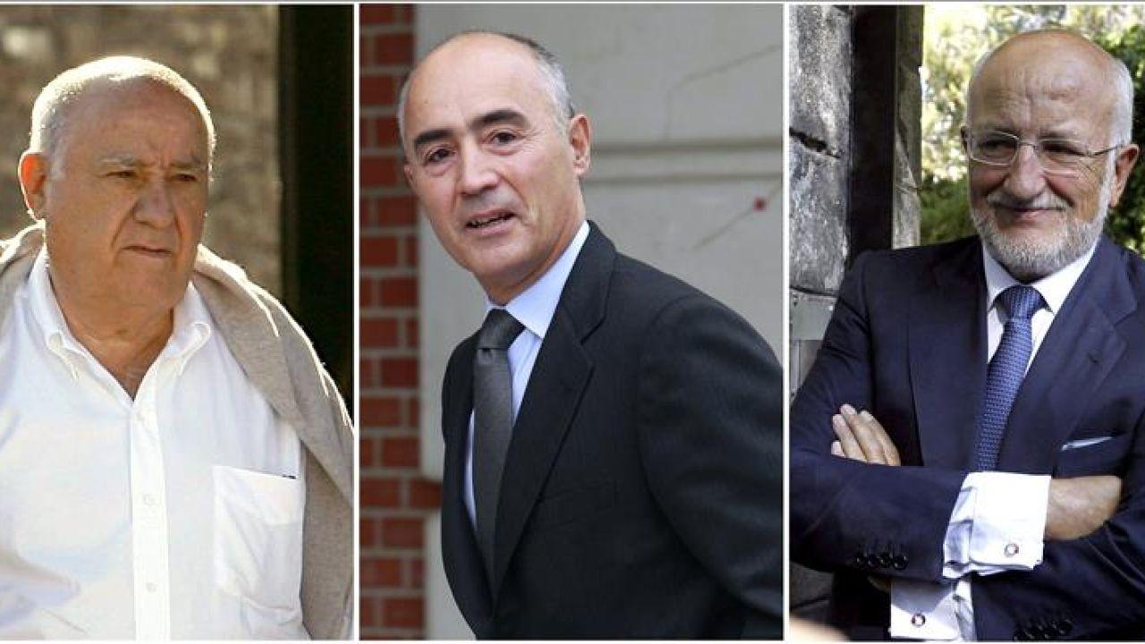Amancio Ortega, Rafael del Pino y Juan Roig