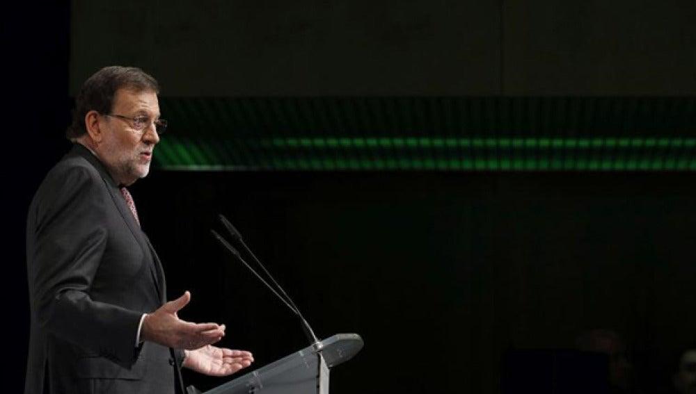 Mariano Rajoy durante un acto público