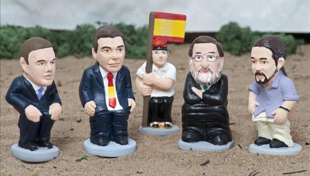 Caganers de los candidatos a la presidencia del Gobierno
