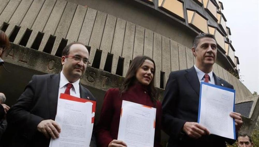 Iceta, Arrimadas y Albiol frente al Tribunal Constitucional