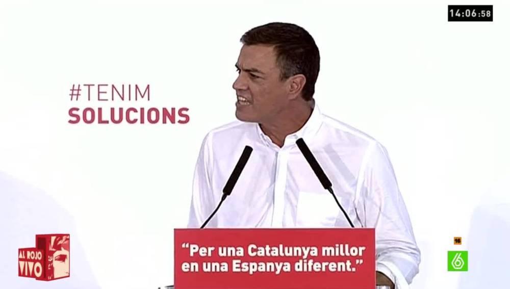 Pedro Sánchez en un acto arv