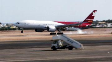 Un avión de la aerolínea rusa Nordwind en una imagen de archivo