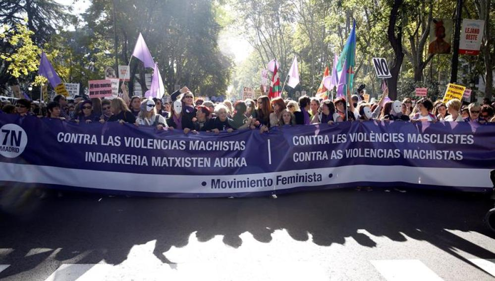 Marcha contra la violencia machista en Madrid