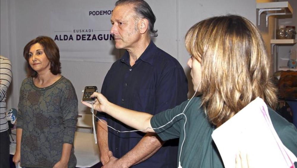 El secretario general de Podemos Euskadi, Roberto Uriarte