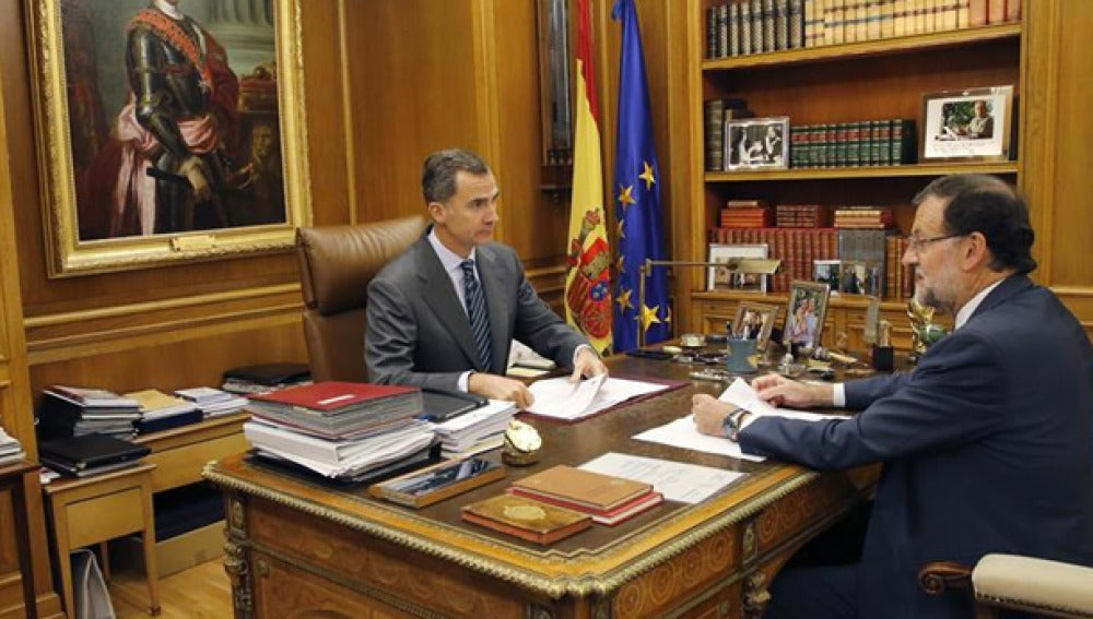 Felipe VI con Mariano Rajoy