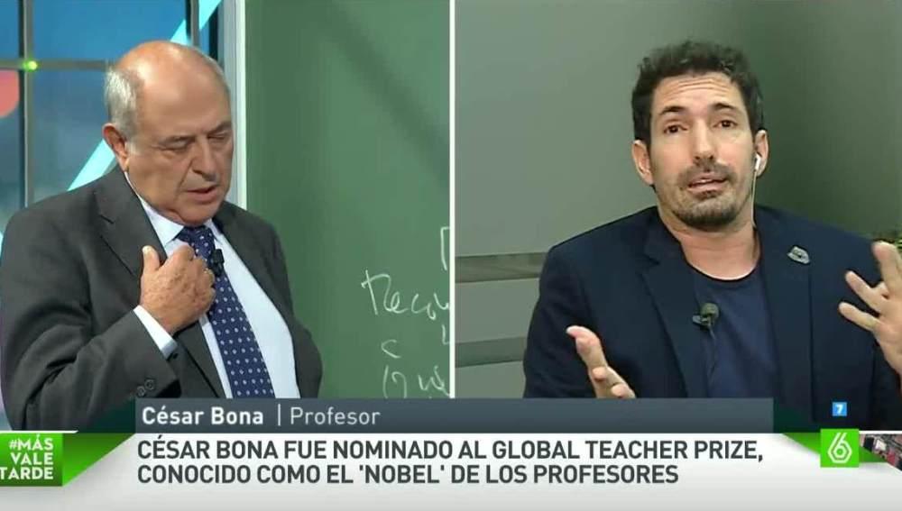 El profesor César Bona