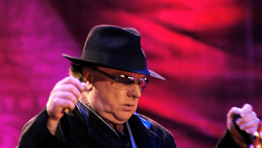 Van Morrison durante el concierto en Madrid