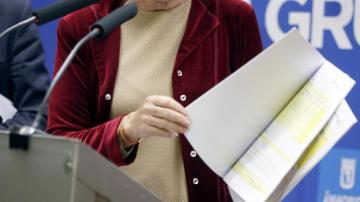 Esperanza Aguirre, portavoz del grupo municipal popular en el Ayuntamiento de Madrid