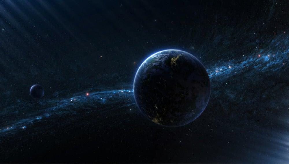 Recreación de un planeta