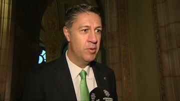Xavier García Albiol en su llegada al Parlament