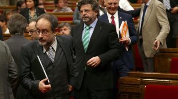 Antonio Baños, en el pleno del Parlament