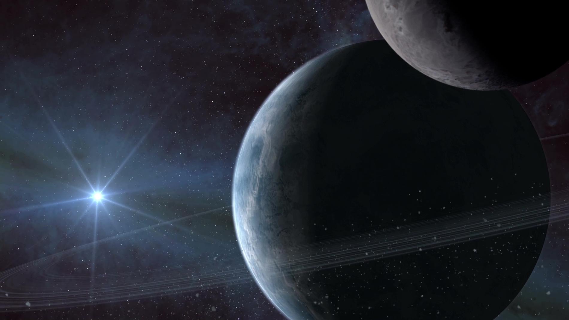 Representación artística de un exoplanet