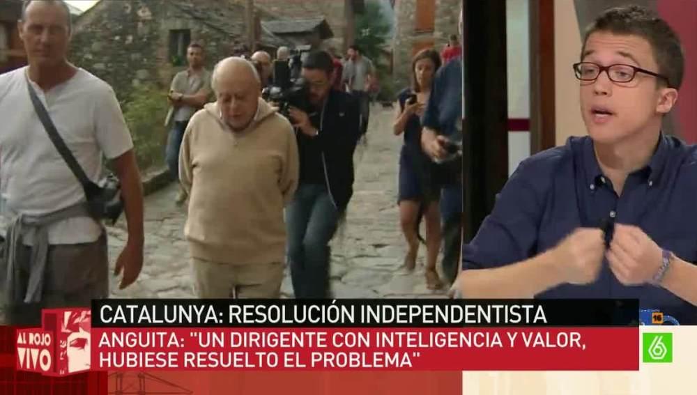 Iñigo Errejón, sobre Pujol