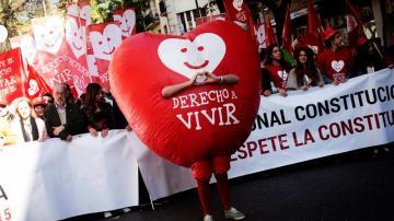 Manifestación en Madrid contra la ley del aborto