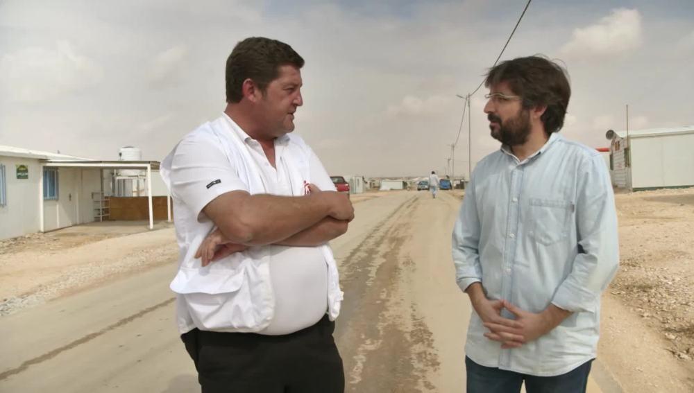 Jordi Évole entrevista a Luis Eguiluz, el jefe de misión de MSF en Jordania