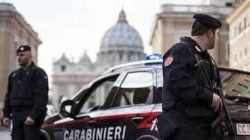 Carabinieri en El Vaticano
