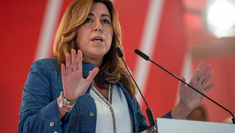 La presidenta de la Junta de Andalucía y secretaria general del PSOE andaluz