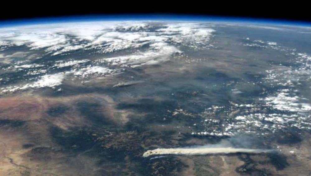 Un incendio visto desde el espacio