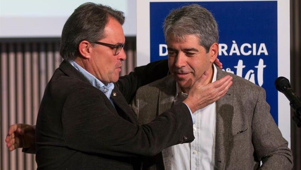 Artur Mas y Francesc Homs durante la presentación de Democràcia i Llibertat