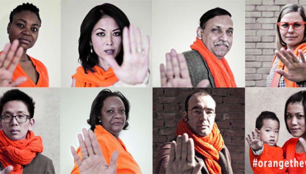 Campaña contra la violencia de la mujer