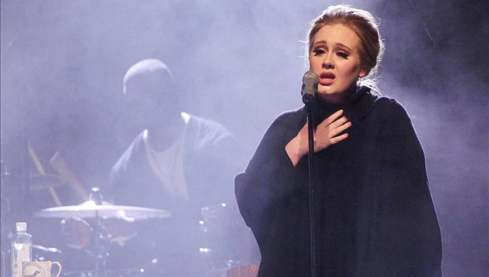 La cantante británica Adele durante un concierto