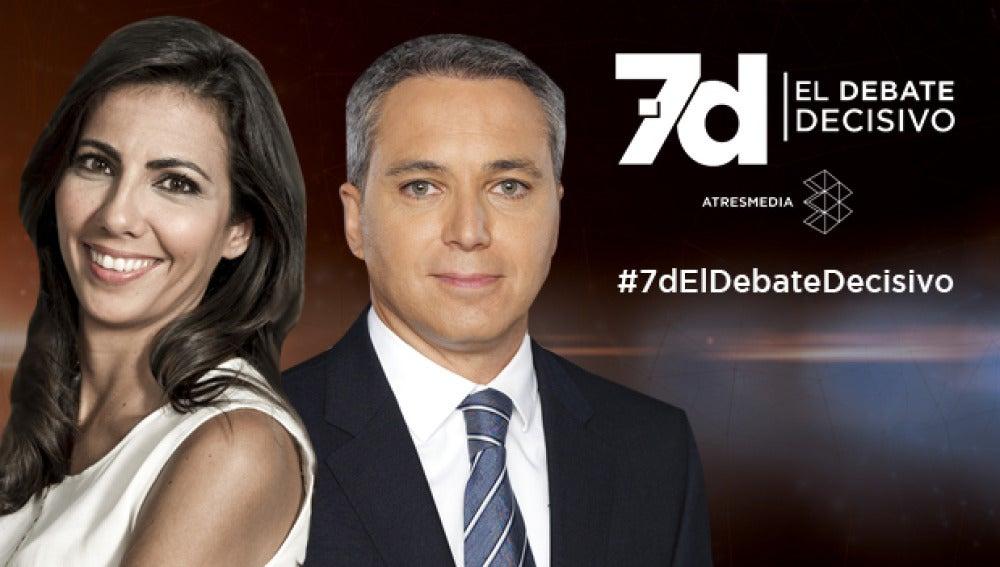 Ana Pastor y Vicente Vallés, moderadores del debate del 7D