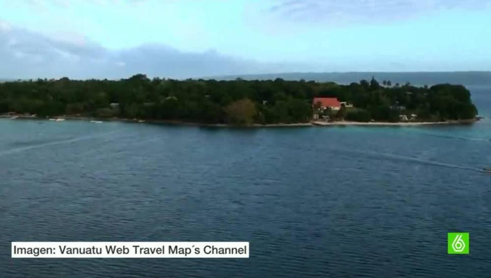 Isla de Vanuatu, en el Pacífico