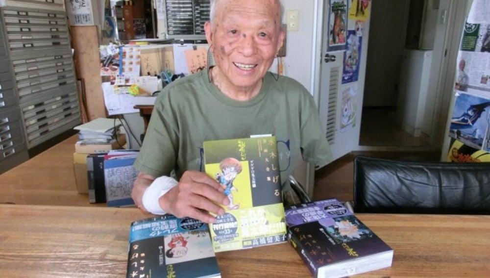 El dibujante de cómic japonés Shigeru Mizuki