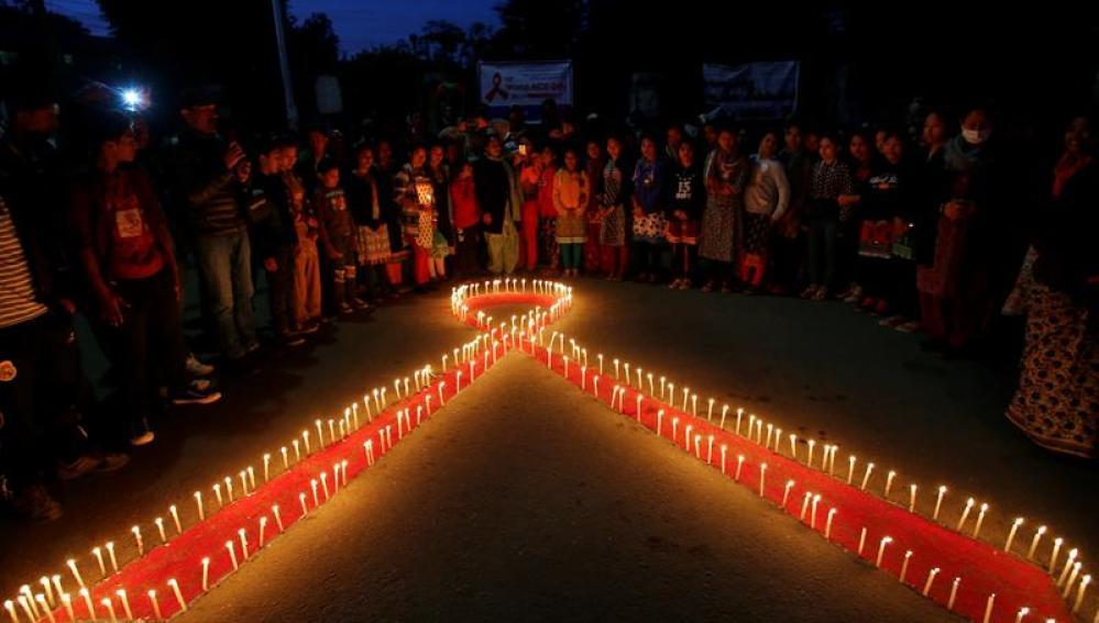 Vigilia por el día mundial de la lucha contra el Sida
