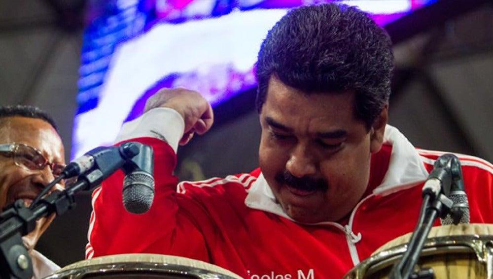 Nicolás Maduro en un acto electoral