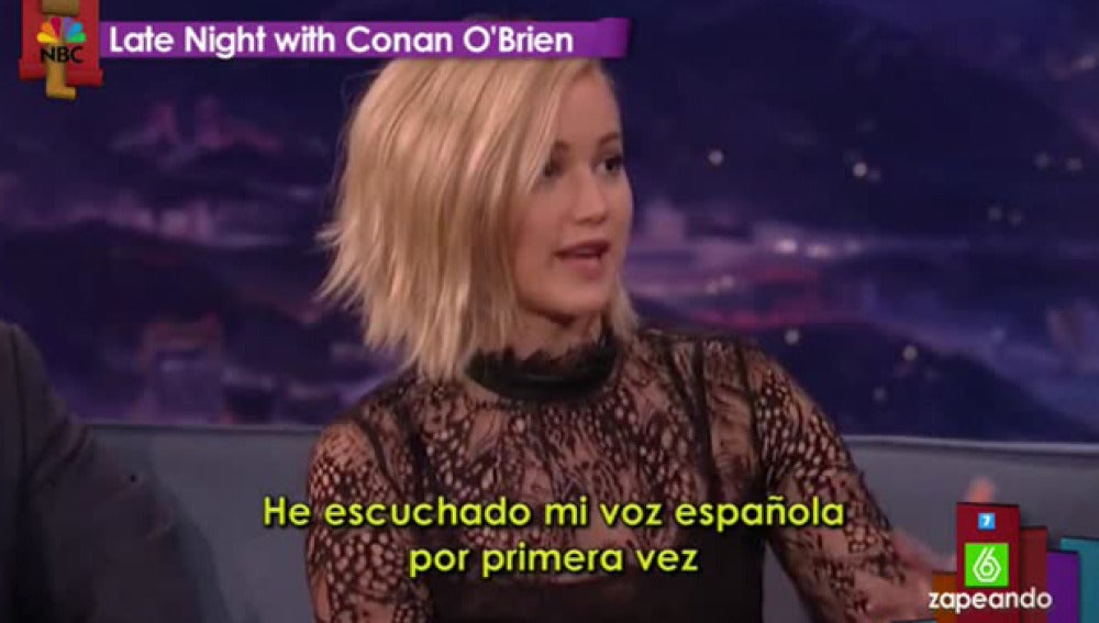 Jennifer Lawrence, en el programa de Conan O'Brien